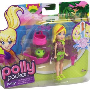 1 X Polly Pocket - Zip 'n Splash - Color Change - POLLY