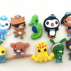 10 the Octonauts Shoe Charms for Croc Shoes & Wristband Bracelet