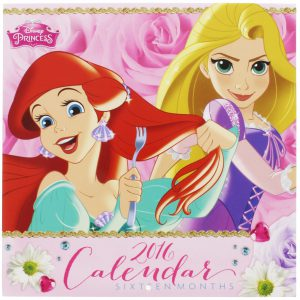 2016 Monthly Wall Calendar - Disney Princess - 16 Months