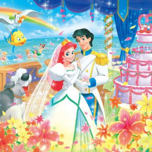 500 piece jigsaw puzzle Disney Little Mermaid Ariel's Royal Wedding (35x49cm)