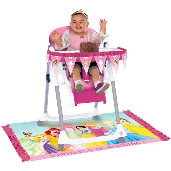 Amscan - Disney 1st Birthday Princess High Chair Decorating Kit, Multi-Colored