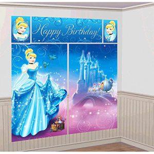 "Amscan Disney's Cinderella Scene Setters, Blue, 59"" x 65"""