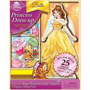 Bendon Disney Princess Belle 25-Piece Wooden Magnetic Doll Dress-Up Kit (AS02066)