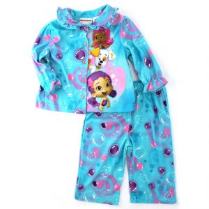 Bubble Guppies Molly Oona Baby Toddler Flannel Pajamas