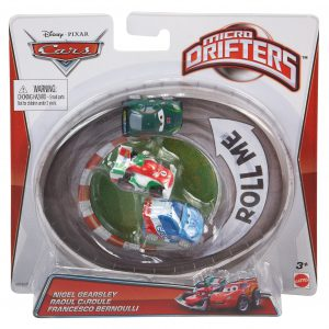 Cars Micro Drifters Nigel Gearsley, Raoul Caroule and Francesco Vehicle, 3-Pack