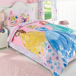 Cinderella, Belle & Ariel Disney Princess Full Comforter Set (5 Piece Bed In A Bag) + HOMEMADE WAX MELT