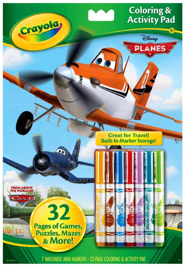 Crayola Disney Pixar Coloring and Activity Book with Markers (Styles Vary) Planes/Cars