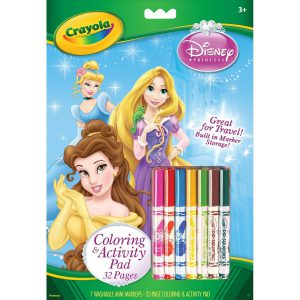 Crayola Disney Princess Coloring and Activity Book with Markers