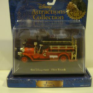 DISNEY ATTRACTIONS COLLECTION - FIRE TRUCK - DIE CAST METAL