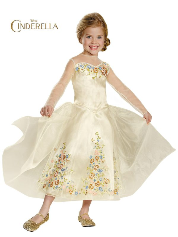 Disguise Cinderella Movie Wedding Dress Deluxe Costume, Medium (7-8)