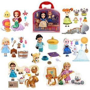 Disney Anna Elsa Snow White Belle Cinderella Ariel Jasmine Rapaunzel Mini Doll Animators Collection Play Set