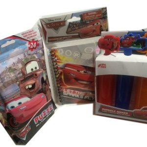 Disney Cars, Popsicle Maker, 24 Piece Puzzle, Note Book-pen 3pc