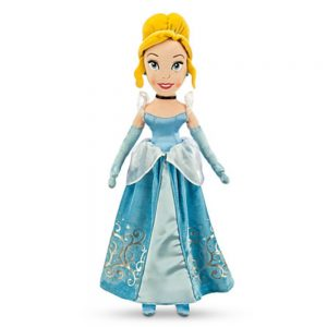 "Disney Cinderella Plush Doll Wearing Classic Blue Dress- 21"" H - New for 2014"