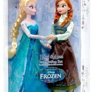 Disney Frozen 11 Inch Doll Set Elsa & Anna Ice Skating Set