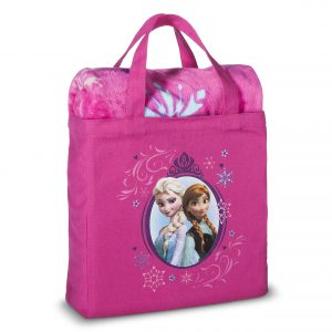 Disney Frozen 2 Piece Silk Touch Throw & Canvas Tote Set - Pink