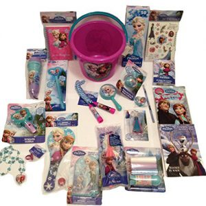 Disney Frozen Princess Elsa & Anna Large Bucket of Fun Set: Perfect for Easter Basket, Birthday Gift, or any other Special Occassion