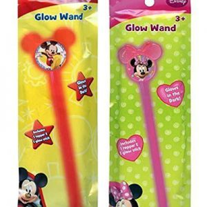 Disney Jr. Mickey Mouse & Minnie Mouse Glow Wand Set! Wands Glow in the Dark! Each Includes 1 Topper & 1 Glow Stick!