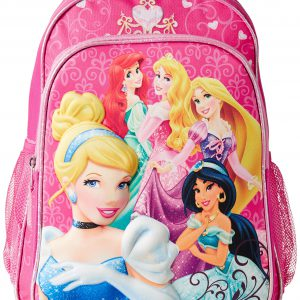 Disney Little Girls' Princess 3D Eva Molded Backpack, Pink, 16x12x5