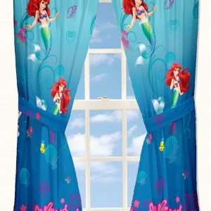 "Disney Little Mermaid Secret Gem Drapes 82"" x 63"""
