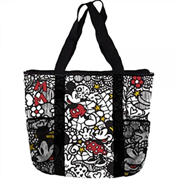 Disney Mickey & Minnie Mouse Lace Mesh Tote Bag