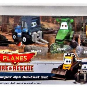 Disney PLANES: Fire & Rescue Exclusive 1:55 Deluxe Die Cast 4-Pack Smoke Jumper [Blackout, Maru, Deer & Drip]