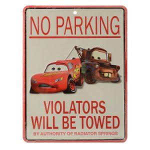 Disney Parks Cars Mater No Parking Violators Will Be Towed Wall Sign Plaque