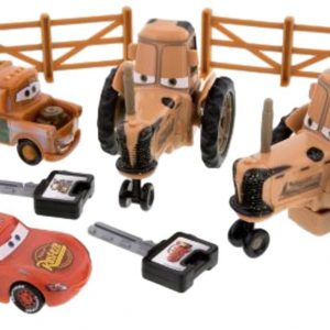 Disney Parks Exclusive Cars Land Tractor Tipping Playset with Mater and Lighting McQueen