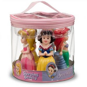 Disney Parks Princess Squeeze Toys Set Including Ariel, Belle, Aurora, Cinderella, and Snow White
