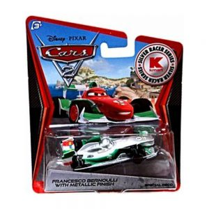 Disney / Pixar CARS 2 Movie Exclusive 155 Die Cast Car SILVER RACER Francesco Bernoulli by Mattel
