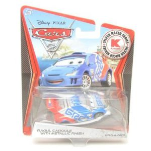 Disney / Pixar CARS 2 Movie Exclusive 155 Die Cast Car SILVER RACER Raoul Caroule