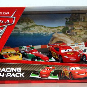 Disney / Pixar CARS 2 Movie Exclusive Die Cast Car Racing 4Pack Lightning McQueen, Francesco Bernoulli, Shu Todoroki Miguel Camino