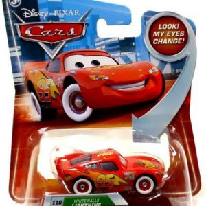 Disney / Pixar CARS Movie 155 Die Cast Car with Lenticular Eyes Series 2 Whitewalls Lightning McQueen