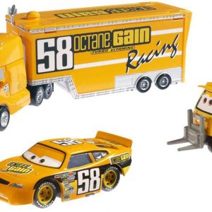 Disney / Pixar CARS Movie 155 Die Cast Cars Exclusive Set Team Octane Gain Hauler, Octane Gain & Pitty