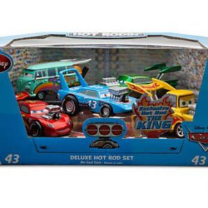 Disney / Pixar CARS Movie Exclusive 1:43 Die Cast Car 5-Pack Deluxe Hot Rod Set [BLUE PACK] [Lightning McQueen, Tow Mater, Fillmore, Ramone & King]