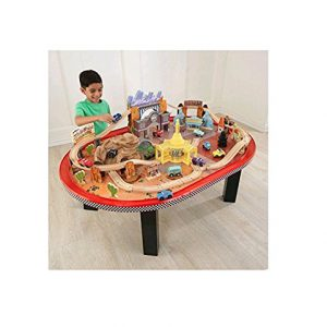 Disney Pixar CARS Radiator Springs 75pc Race Track Set & Table