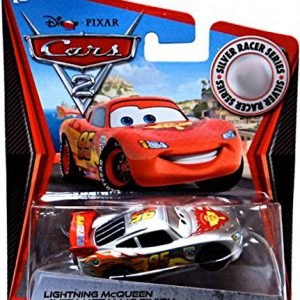 Disney / Pixar Cars 2 Movie Exclusive 155 Die Cast Car Silver Racer Lightning McQueen