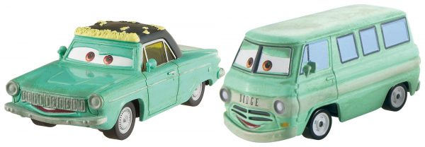 Disney Pixar Cars Diecast Character Car 2-Pack, Rusty & Dusty