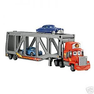 Disney Pixar Cars Mack Transporter Truck with Doc Hudson and Sally