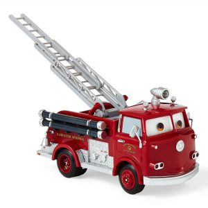 "Disney Pixar Cars Red 8"" Pull-Back Fire Truck"