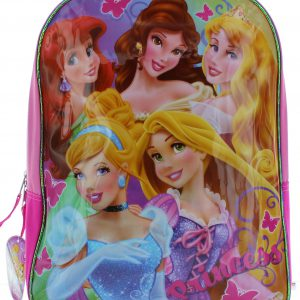 "Disney Princess 14"" Backpack - Cinderella, Rapunzel, Ariel, Belle and Aurora"