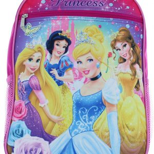 "Disney Princess 15"" Backpack - Rapunzel, Snow White, Belle and Cinderella"