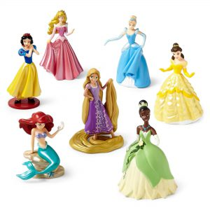Disney Princess 7-pc. Figure Set- Ariel, Rapunzel, Belle, Cinderella, Snow White, Tiana, Sleeping Beauty.