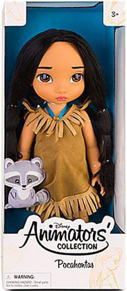 Disney Princess Animators' Collection Toddler Doll 16'' H - Pocahontas with Plush Friend Meeko