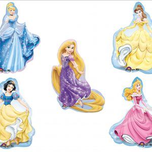 Disney Princess BIRTHDAY PARTY Balloons Decorations Supplies SET OF 5!!