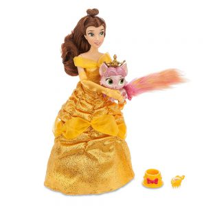 Disney Princess Beauty and the Beast Belle and Rouge Palace Pet Doll and Figure Set