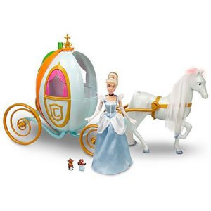 "Disney Princess Cinderella Carriage Pumpkin Coach w/Full-Size 12"" Doll & Royal Horse"