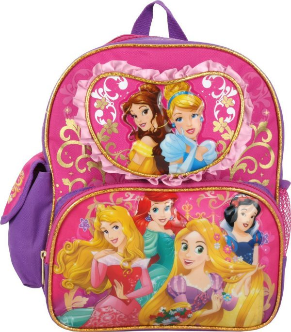 "Disney Princess Cinderella Rapunzel Ariel 12"" Toddler Backpack"