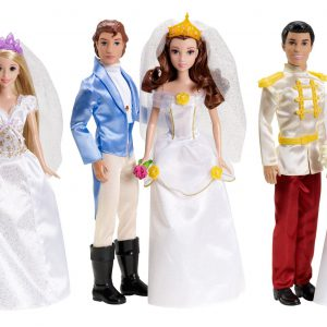 Disney Princess Fairytale Wedding 6-Doll Gift Set