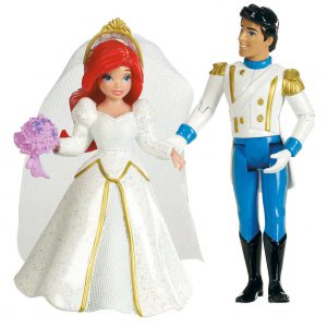 Disney Princess Fairytale Wedding Ariel and Prince Eric Doll Set