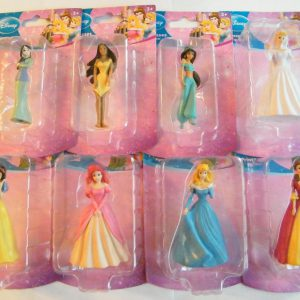 Disney Princess Figurines Cake Topper : Belle, Cinderella, Little Mermaid, Mulan, Sleeping Beauty Etc Set of 8